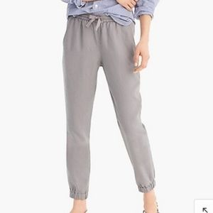 J. Crew Point Sur Grey Sea Side Jogger Pants Sz 8
